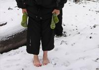Продолжайте утаптывать снег вокруг роз :)